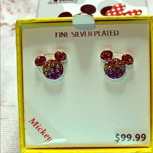 Mickey Mouse Fine Silver Plated Earrings